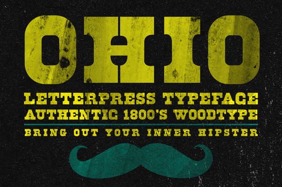 Ohio Wood Type Typeface