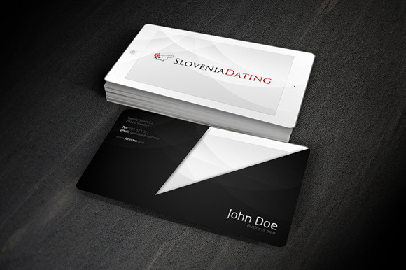 2 IPad Looking Business Cards