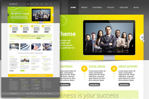 Clean PSD Website Template