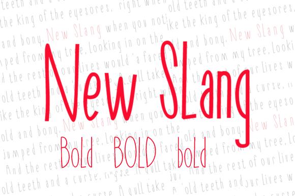 New Slang Bold