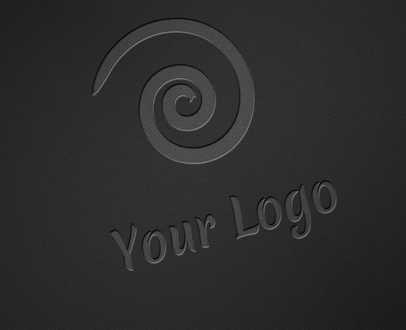 Logo Mock-ups Dark Style