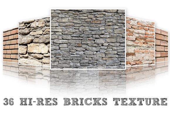 36 Hi-Res Brick Textures