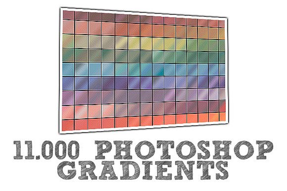 11.000 Amazing Photoshop Gradients