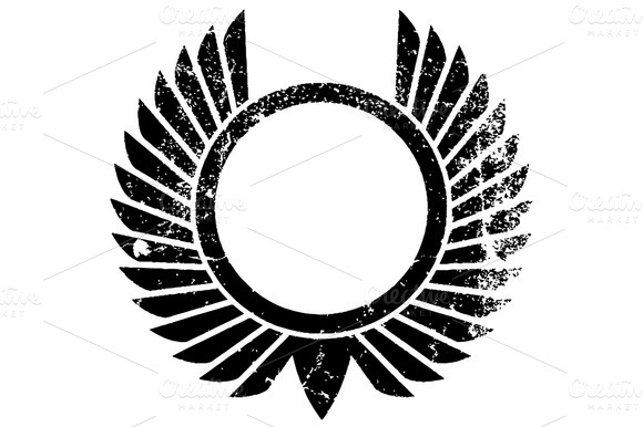 Distressed Crest Symbol