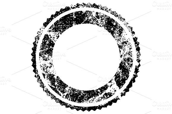 Distressed Circular Symbol
