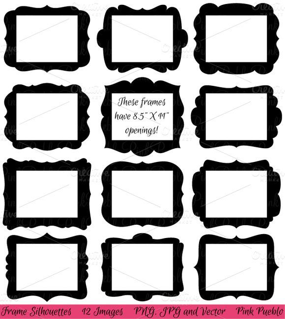 8.5 X 11 Frames Clipart Vectors
