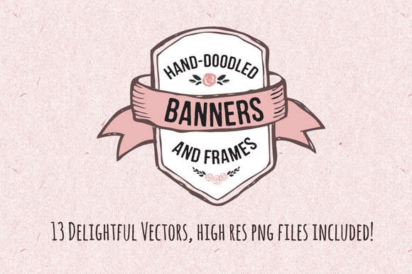 Hand-Doodled Banners Frames