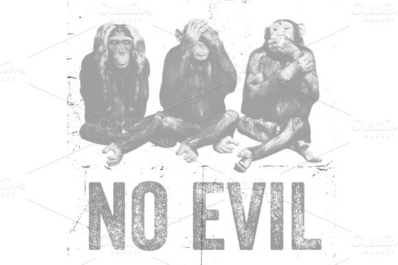 Wise Monkeys Vector Illustration