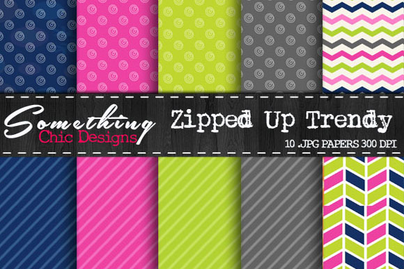 Zipped Up Trendy Chevron Patterns
