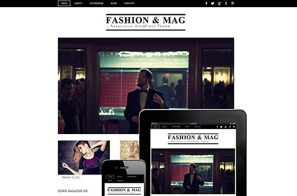 Fashion Mag Responsive Theme