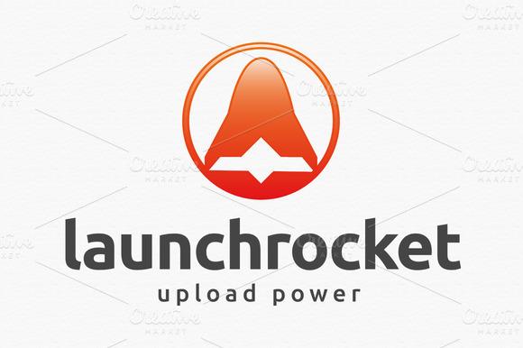 Launch Rocket Logo Template