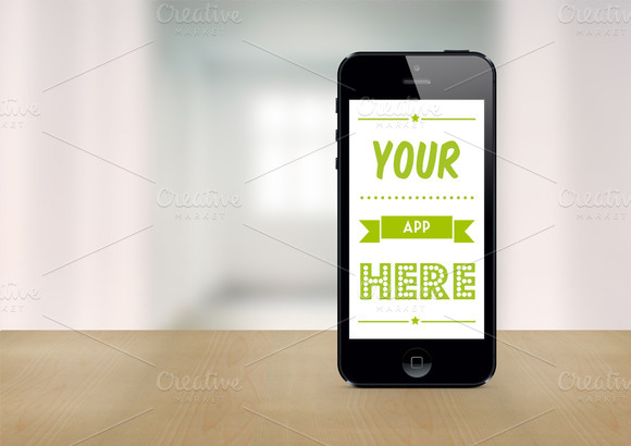 Black IPhone 5 Mockup Template