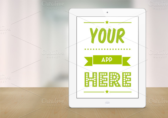 White IPad Retina Mockup Template