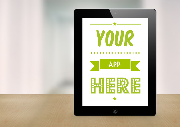 Black IPad Retina Mockup Template
