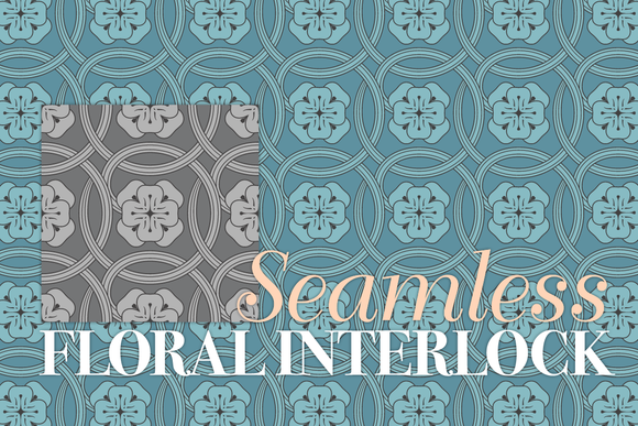 Seamless Floral Interlock Pattern