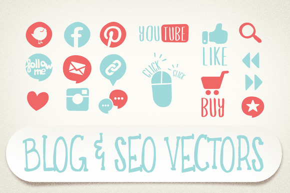 Blog SEO Vector Icons