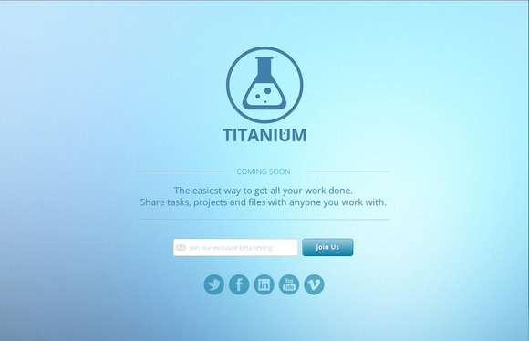 Titanium Coming Soon Page