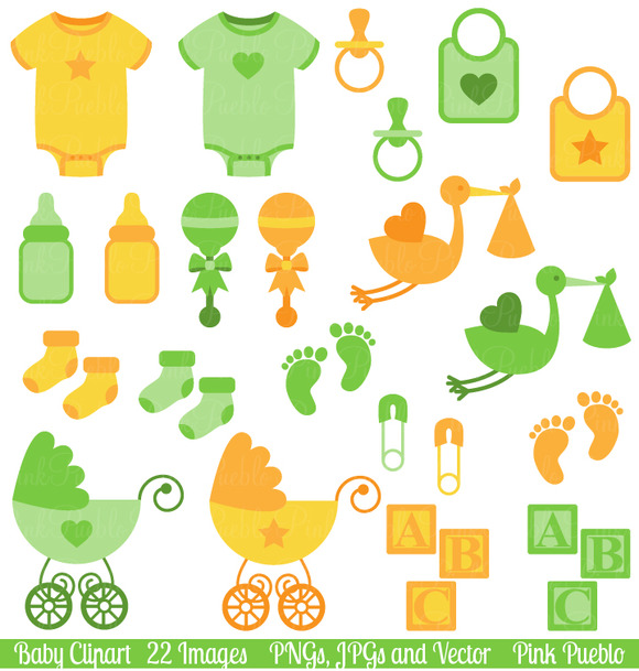 Gender Neutral Baby Clipart Vector