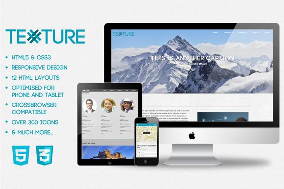 Texture HMTL5 CSS3 Web Template