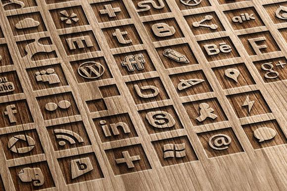 67 B W Social Media Icons Set