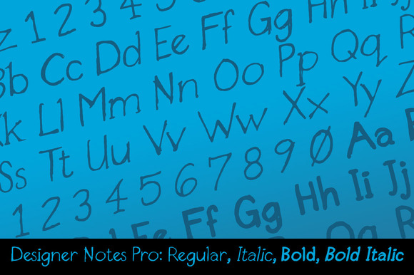 Designer Notes Pro Font Family