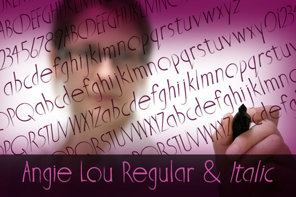Angie Lou Font Family