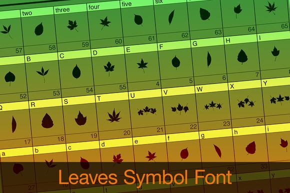 Leaves Symbol Font