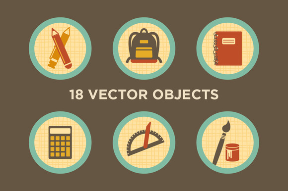 Things In School 18 Vector Objects