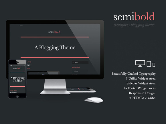 Semibold Wordpress Blogging Theme
