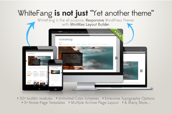 WhiteFang Responsive WP Theme