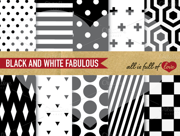 Black White Background Patterns