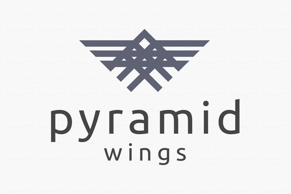 Pyramid Wings Logo Template