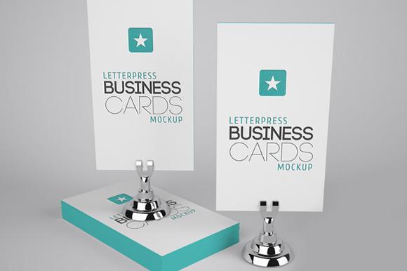 Letterpress Business Cards Mockup #2