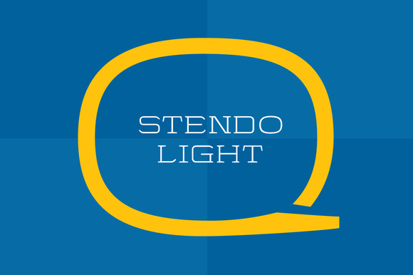Stendo Extended Light Wide Font