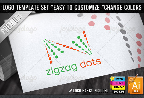 Zigzag Dots Abstract Z Letter Logo