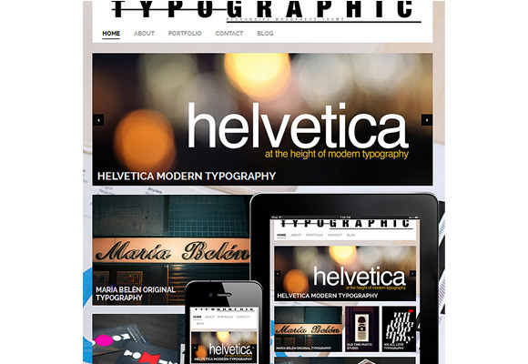 Typographic Responsive WordPress