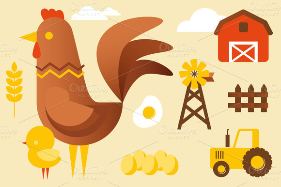 Chicken And Farm