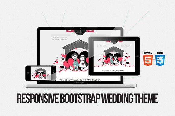 Happiness-Bootstrap Responsive HTML