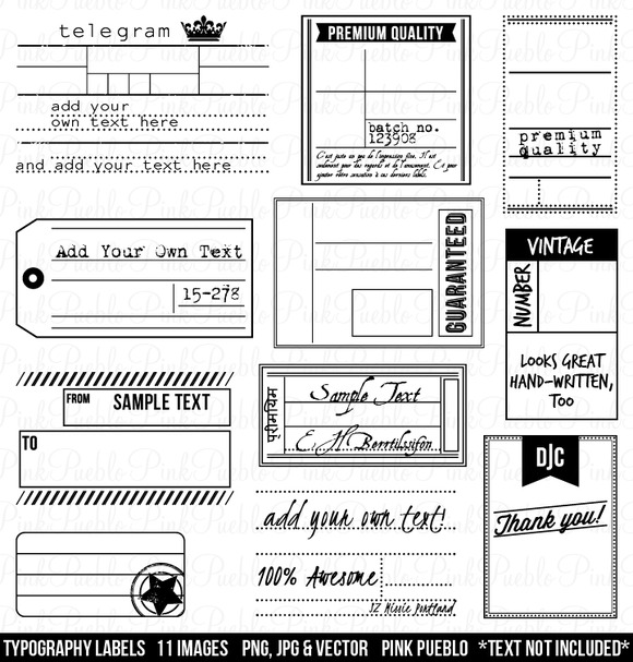 Vintage Labels Clipart And Vectors