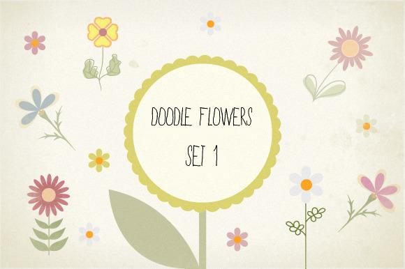 Spring Doodle Flowers Set 1