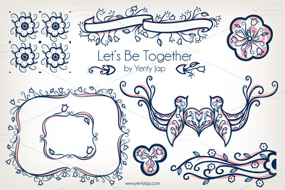 Let S Be Together Vector Wedding