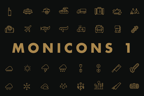 Monicons 1 100 Icons