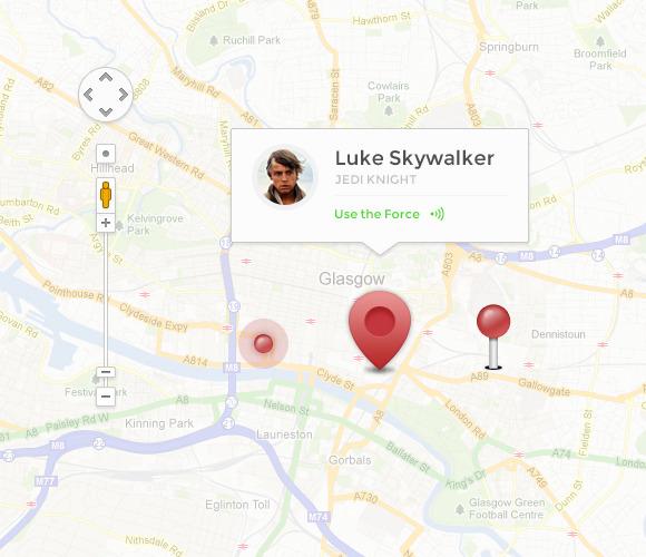 Simple Map UI Kit