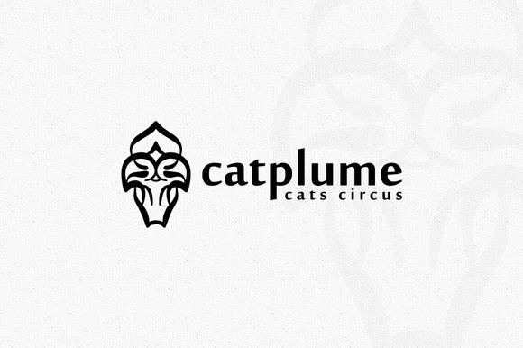 Cat Plume Logo
