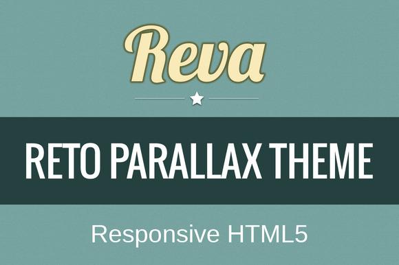 REVA Retro Parallax Responsive Theme