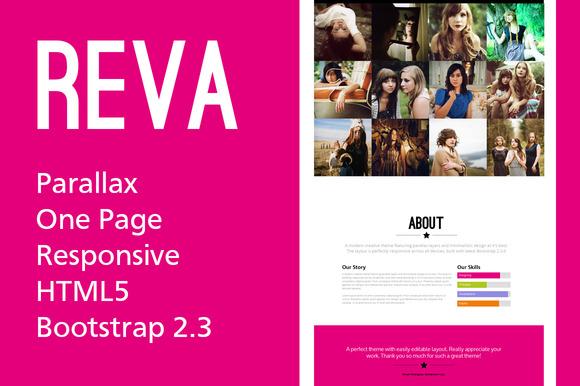 REVA Sleek Parallax Responsive Theme