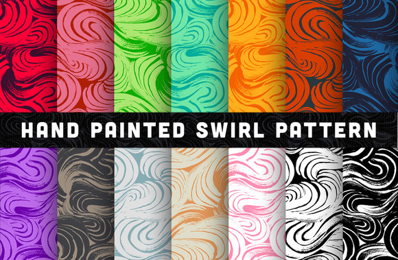 Hand Painted Swirl Pattern