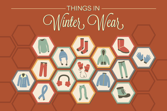 Things In Winter Wear 15 Vectors