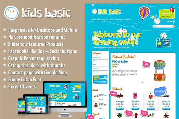 KidsBasic OpenCart Responsive Theme