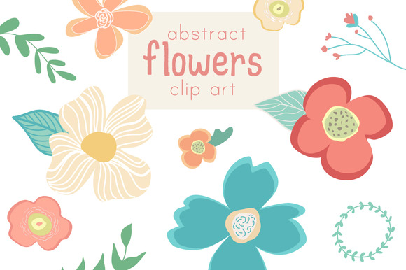 Abstract Flower Clip Art Vector